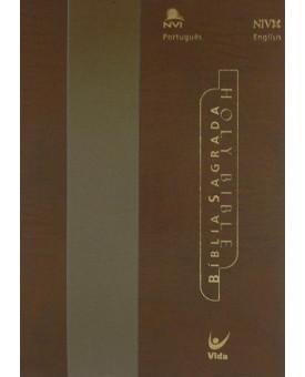 Holy Bible   Português e Inglês   NVI   Letra Normal   Champanhe Ouro
