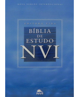 Bíblia de Estudo | NVI | Letra Normal | Capa Dura | Azul | Grande