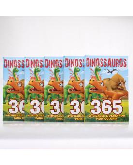 Kit 5 Livros   365 Atividades e Desenhos Para Colorir   Dinossauros