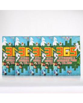 Kit 5 Livros   Pró Games   365 Atividades e Desenhos Para Colorir