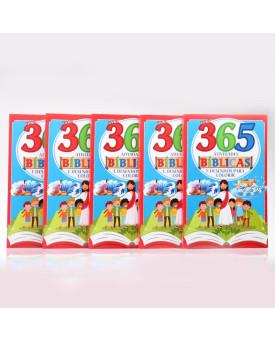 Kit 5 Livros   365 Atividades Bíblicas e Desenhos Para Colorir