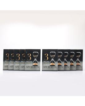 Kit 10 Livros | Devocional 3 Minutos com Charles H. Spurgeon | Ampulheta