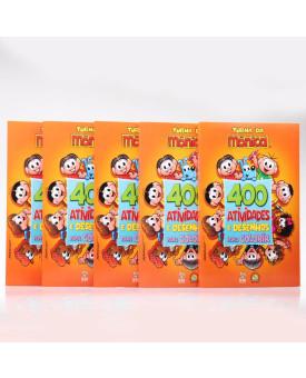 Kit 5 Livros   Turma da Mônica   400 Atividades e Desenhos Para Colorir