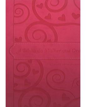 Bíblia da Mulher que Ora | NVI | Média | Pink