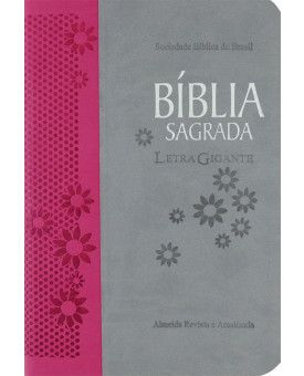 Bíblia Sagrada   RA   Letra Gigante   Luxo   Pink