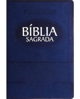 Bíblia Sagrada | RA | Letra Gigante | Azul | Luxo | com Índice