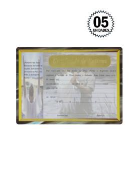 Certificado de Batismo com 05 Unidades