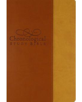 Chronological Study Bible | Letra Normal | Emborrachada | Caramelo/Bege
