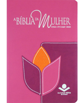 Bíblia De Estudo Da Mulher | RC | Letra Normal | Couro Bonded | Flor