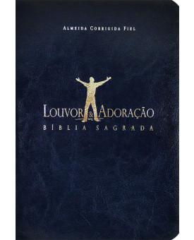 Bíblia Sagrada | Almeida Corrigida Fiel | Louvor e Adoração | Azul