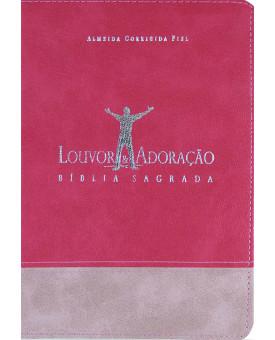 Bíblia Louvor e Adoração | ACF | Pink
