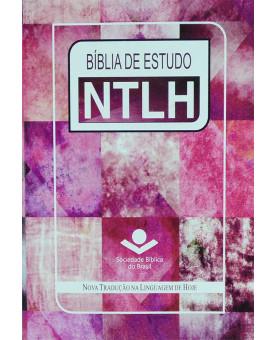 Bíblia De Estudo | NTLH | Letra Normal | Couro Bonded | Arte Feminina