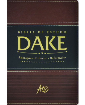 Bíblia De Estudo DAKE | RC | Letra Normal | Luxo | Marrom | Listra Preta