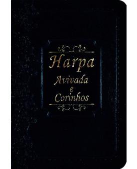 Harpa Avivada e Corinhos | Brochura | Luxo | Azul