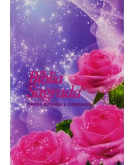 Bíblia Sagrada | RC | Harpa Avivada e Corinhos | Edição Pocket | Rosa