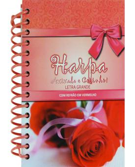 Harpa Avivada e Corinhos | Refrão em Vermelho | Letra Grande | Pequena| Rosa Vermelha