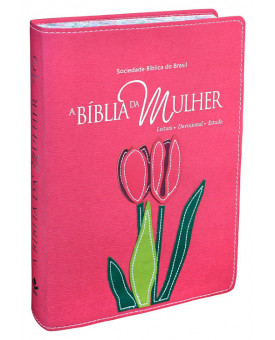 A Bíblia da Mulher de Fé | RA | Letra Normal | Capa Sintética | Borda Florida