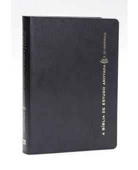 A Bíblia de Estudo Anotada Expandida | RA | Couro | Letra Normal | Preta