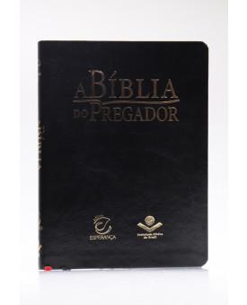 A Bíblia do Pregador   RC   Capa Sintética   Letra Normal   Preta Nobre