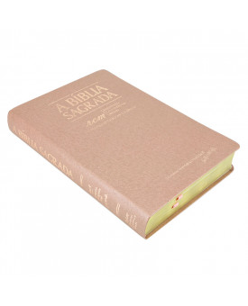 A Bíblia Sagrada | ACF | Letra Gigante | Luxo | Ouro Rosa