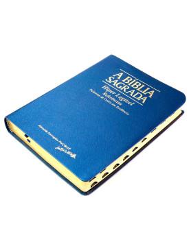A Bíblia Sagrada | ACF | Hiper Legível | Luxo | Azul | índice