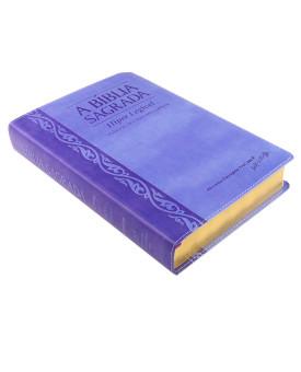 A Bíblia Sagrada | ACF | Hiper Legível | Palavras de Cristo em Evidência | Luxo | Uva/Lilás