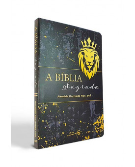 Bíblia Sagrada   ACF   Letra Média   Brochura   Leão   Slim
