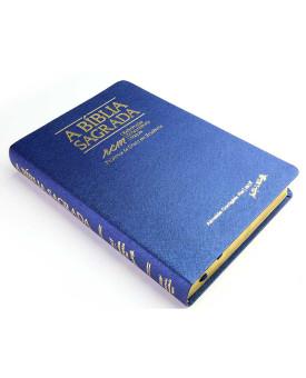 A Bíblia Sagrada | ACF | RCM | Palavras de Cristo em Evidência | índice | Luxo | Azul