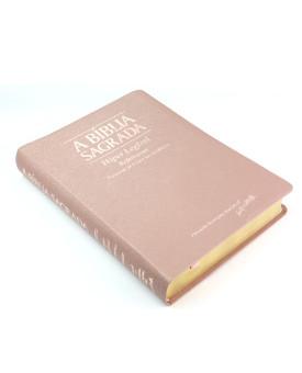 A Bíblia Sagrada | ACF | Hiper Legível | Luxo | Rosa Gold | índice