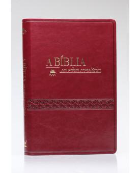 A Bíblia Em Ordem Cronológica | NVI | Letra Normal | Luxo | Vinho