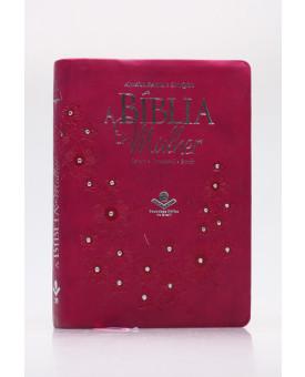 A Bíblia da Mulher   RA   Letra Média   Luxo   Vinho
