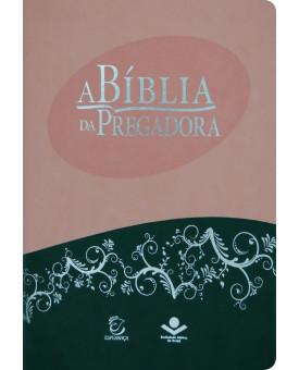 Bíblia da Pregadora | Almeida Atualizada | Grande | Luxo | Rosa
