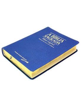 A Bíblia Sagrada | ACF | Hiper Legível | Palavras de Cristo em Evidência | Luxo | Azul