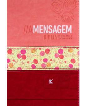 Bíblia de Estudo | A Mensagem | Letra Média | Luxo | Índice | Floral