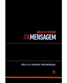 Bíblia de Estudo | A Mensagem | Letra Média | Luxo | Índice | Preto
