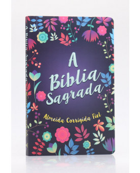 Bíblia Sagrada   ACF   Letra Média   Brochura   Florida   Slim