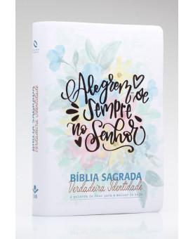Bíblia Sagrada Verdadeira Identidade | NAA | Letra Normal | Capa Sintética | Alegre-se Sempre no Senhor