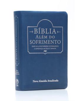 Bíblia Além do Sofrimento | NAA | Letra Grande | Capa Sintética | Azul