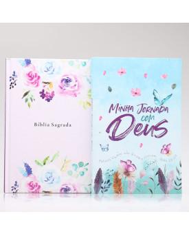 Kit Bíblia NAA Amanhecer + Minha Jornada com Deus Jardim Secreto | Fé Restaurada