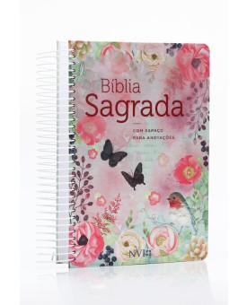 Bíblia Sagrada Anote | NVI | Letra Média | Capa Dura | Espiral | Clássica Virtuosa