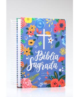 Bíblia Sagrada Anote | NVI | Letra Normal | Capa Dura | Espiral | Céu Azul