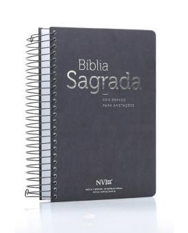 Bíblia Sagrada | NVI | Letra Média | Capa Dura | Espiral | Anote Zebra