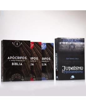 Kit 4 Livros   Apócrifos e Pseudo-Epígrafos da Bíblia + Judaísmo E Messianismo   Jesus e o Judaísmo