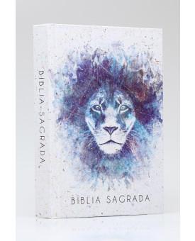 Bíblia Sagrada | NVI | Leitura Perfeita | Letra Grande | Capa Dura | Leão Aquarela