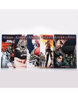 Kit 5 Livros | Ataque dos Titãs | Vol.1 ao Vol.5 | Hajime Isayama