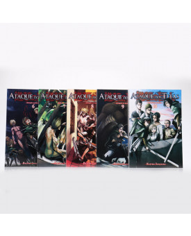 Kit 5 Livros | Ataque dos Titãs | Vol.6 ao Vol.10 | Hajime Isayama