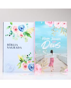 Kit Bíblia NAA Alegria + Minha Jornada com Deus Menina dos Olhos | Fé Restaurada