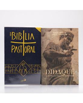 Kit Nova Bíblia Pastoral Letra Normal Edição Especial Azul + Didaqué | Vivenciando a Fé