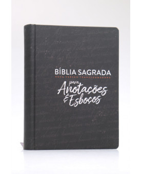 Bíblia Sagrada Para Anotações e Esboços | NVT | Letra Normal | Capa Dura | Preta