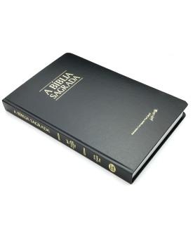 A Bíblia Sagrada | ACF | Letra Grande | Fina | Semi-Luxo | Preta